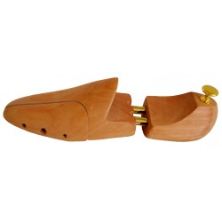 WOODEN SHOE TREES WITH DOUBLE SPRING